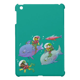 Cartoon illustration Gnomes and there fish friends iPad Mini Cases