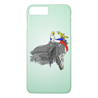 Cartoon Illustration of a Bald Eagle iPhone 7 Plus Case