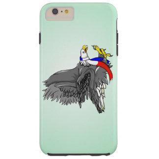 Cartoon Illustration of a Bald Eagle Tough iPhone 6 Plus Case