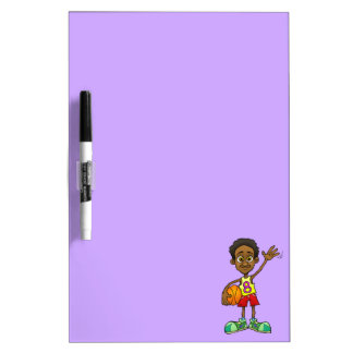 Cartoon illustration of a boy holding a ball. Dry-Erase whiteboards