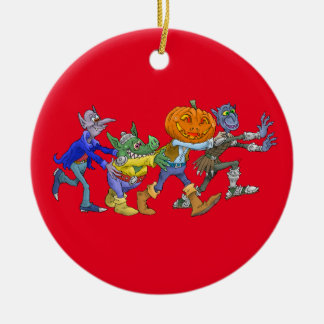 Cartoon illustration of a Halloween congo. Christmas Ornament