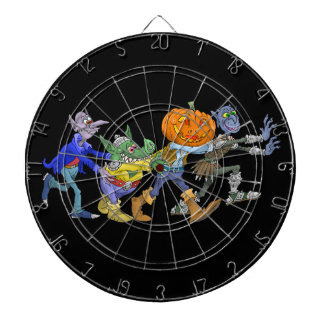 Cartoon illustration of a Halloween congo. Dart Board