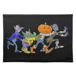 Cartoon illustration of a Halloween congo. Placemat