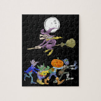 Cartoon illustration of a Halloween congo, puzzle. Jigsaw Puzzle
