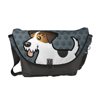 Cartoon Jack Russell Terrier Messenger Bags