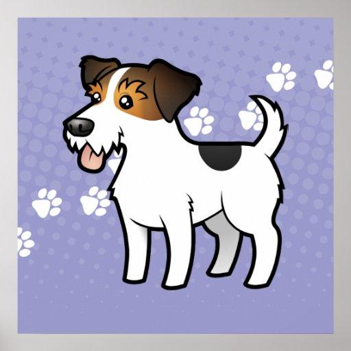 Cartoon Jack Russell Terrier Posters