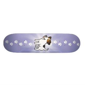 Cartoon Jack Russell Terrier Skate Board Decks