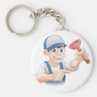 Cartoon Janitor or Plumber Key Chains