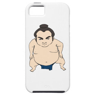 Cartoon Japanese Sumo Wrestler iPhone 5 Covers