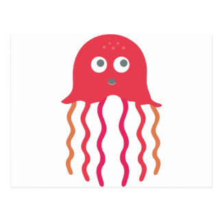 Cartoon Jellyfish Postcard