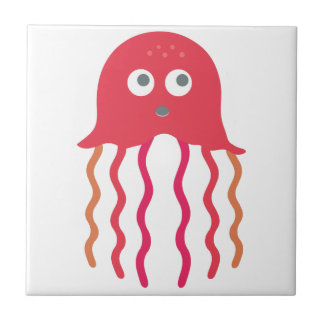 Cartoon Jellyfish Tile