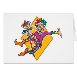 Cartoon Jester Card