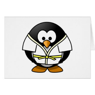 Cartoon Judo Penguin Card