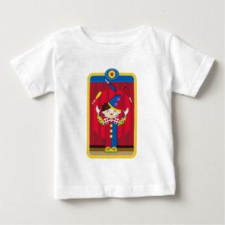 Cartoon Juggling Circus Clown Baby T-Shirt