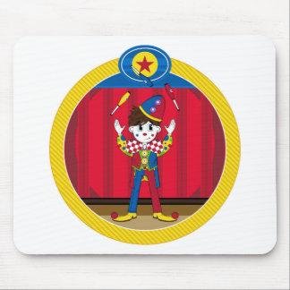 Cartoon Juggling Circus Clown Mouse Mat