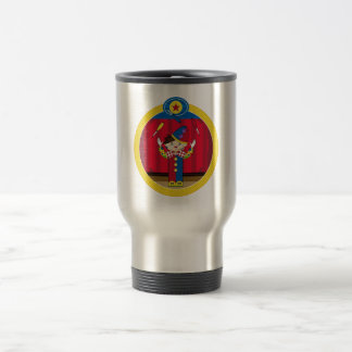 Cartoon Juggling Circus Clown Travel Mug