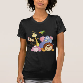 Cartoon Jungle Animals T-Shirt