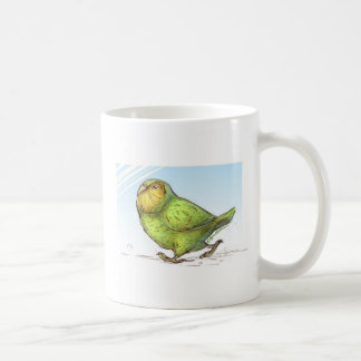 Cartoon Kakapo Bird Character Coffee Mug