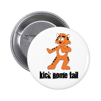 Cartoon Karate Tiger 6 Cm Round Badge