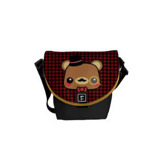 Cartoon Kawaii Bear Mustache Messenger Bag