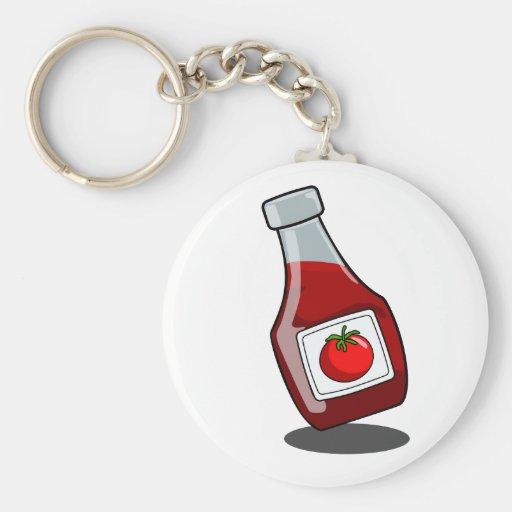 Cartoon Ketchup Bottle Keychain