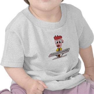 Cartoon Keyboard Player T-shirts