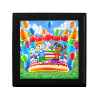 Cartoon Kids Bouncy Castle Small Square Gift Box