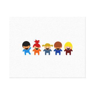 Cartoon Kids Canvas Prints