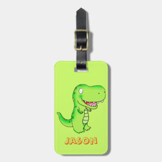 cartoon kids dinosaur T-rex Luggage Tag