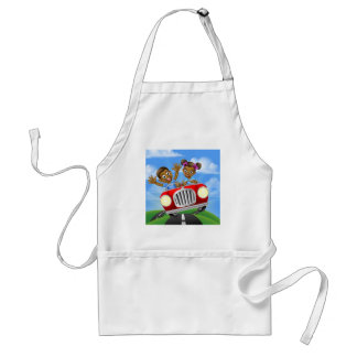 Cartoon Kids Driving Car Standard Apron