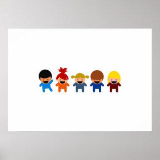 Cartoon Kids Poster