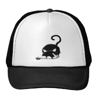 Cartoon Kitty with toy mouse Cap