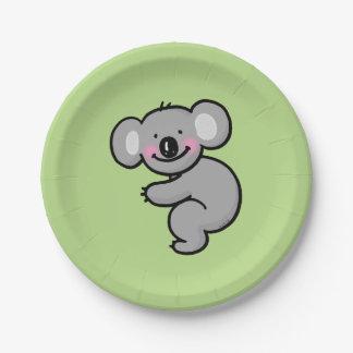 cartoon koala bear paper plate