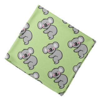 cartoon koala bear pattern bandana