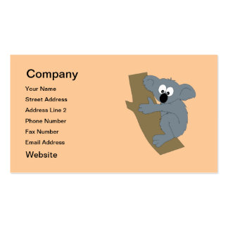 Cartoon Koala Business Card