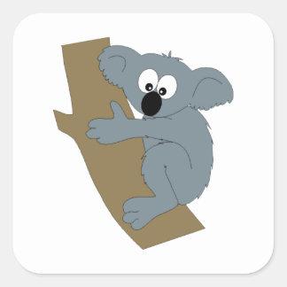 Cartoon Koala Square Sticker