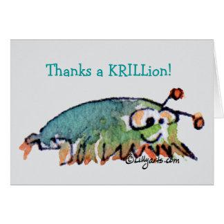 Cartoon Krill Thank You Card
