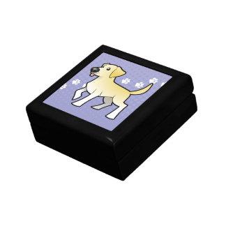 Cartoon Labrador Retriever Gift Box