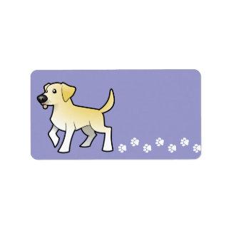 Cartoon Labrador Retriever Label