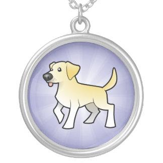 Cartoon Labrador Retriever Silver Plated Necklace