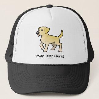 Cartoon Labrador Retriever Trucker Hat