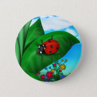 Cartoon Lady Bug 6 Cm Round Badge