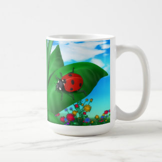 Cartoon Lady Bug Coffee Mug