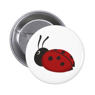 Cartoon Ladybug 6 Cm Round Badge