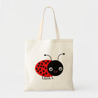 Cartoon Ladybug, also known as Ladybird Tote Bag