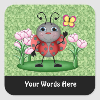 Cartoon Ladybug insect fun sticker