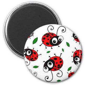 Cartoon ladybugs pattern magnet