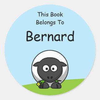 Cartoon Lamb Book Stickers