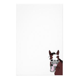 Cartoon Laughing Horse Fun Stationery