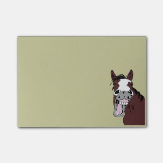 Cartoon Laughing Horse Humor  Fun Office Gift Post-it Notes